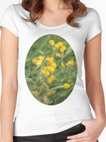 Yellow Flowers. Women's Fitted Scoop T-Shirt