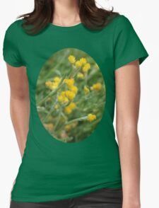 Yellow Flowers. Womens Fitted T-Shirt