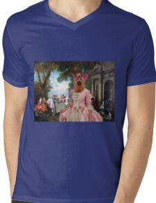 Yorkshire Terrier Art - Dancing at the fountain Mens V-Neck T-Shirt