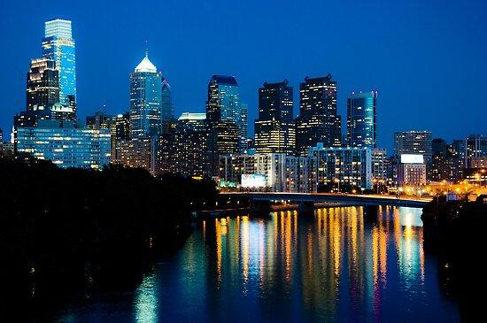 Philadelphia Skyline at Night by Eric Tsai
