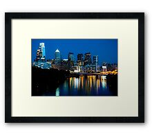 Philadelphia Skyline at Night Framed Print