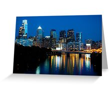 Philadelphia Skyline at Night Greeting Card