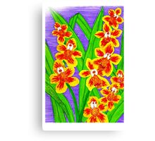 Kooky Orchids Canvas Print