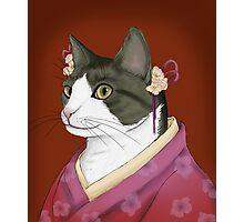Kimono cat Photographic Print