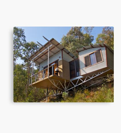 Mountain Eco-cottage, Bright, Victoria. Canvas Print