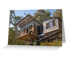 Mountain Eco-cottage, Bright, Victoria. Greeting Card