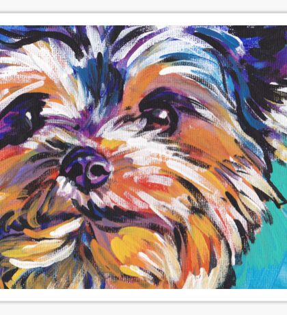 Yorkie Yorkshire Terrier Bright colorful pop dog art Sticker