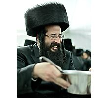Means a lot to me  ! Shabbat meal together , Leżajsk .Adar.2012. by Doktor Faustus . Shalom . Photographic Print