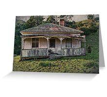 Vintage Farm Cottage Greeting Card