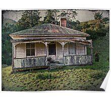 Vintage Farm Cottage Poster