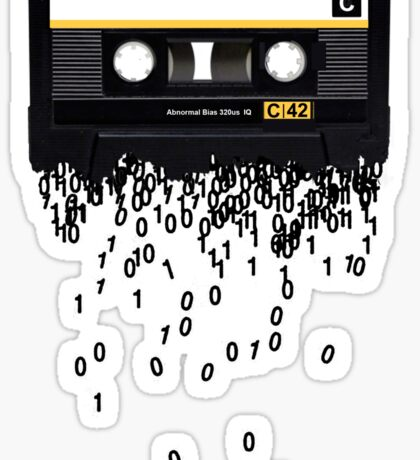 The death of the cassette tape. Sticker