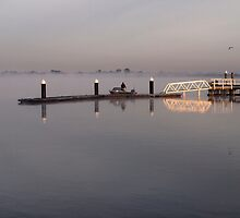Ocean Grove Boat Ramp in fog. by John Sharp