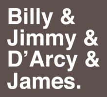 Billy & Jimmy & D'Arcy & James Smashing Pumpkins T-Shirt One Piece - Short Sleeve