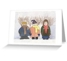 Three in the Snow Greeting Card