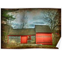 New England Grist Mill Poster