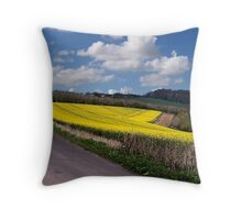 A Field Full of Sunshine Throw Pillow