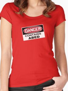 DANGER: Contains Abed Women's Fitted Scoop T-Shirt