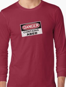DANGER: Contains Abed Long Sleeve T-Shirt
