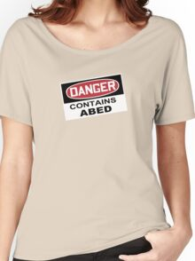 DANGER: Contains Abed Women's Relaxed Fit T-Shirt