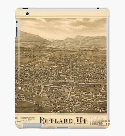 Panoramic Maps Rutland Vt iPad Case/Skin