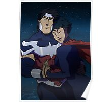 Wonderous Man and Superwoman Poster