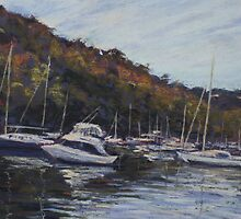 Boats on Middle Harbour by Terri Maddock