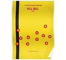 No048 My Kill Bill - part 1 minimal movie poster Poster