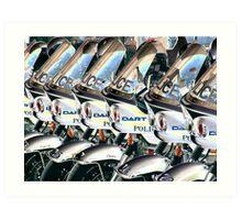 DART Police motorcycles - chrome Art Print