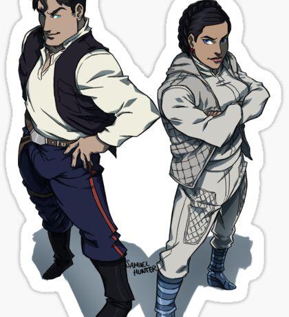 Star Wars excitement in the DCU Sticker