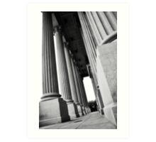 State House Columns Art Print