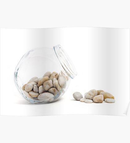 Pebbles and Jar Poster
