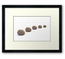 Five Calm Smooth Pebbles Framed Print