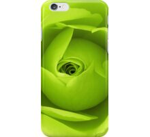 Bright Lime Green Rose Flower iPhone Case/Skin