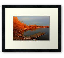 Lake Devonian Framed Print