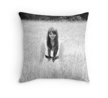 Infrared Spring Throw Pillow