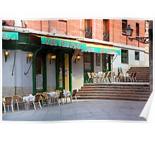 Memories of Spain 5 - Cafe del Nuncio in Madrid Poster