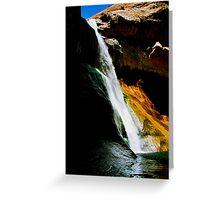 Lower Calf Creek Falls, UT Greeting Card