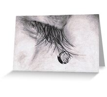 Tear Drop Greeting Card