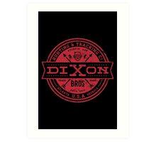 Dixon Bros. - Red Version Art Print