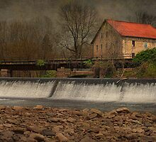 Prallsville Grist Mill And Spillway by Pat Abbott