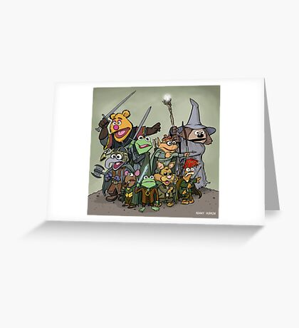 Fellowship of the Muppets Greeting Card