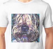 Wheaten Terrier Bright colorful pop dog art Unisex T-Shirt