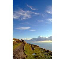 Blue Skies over the White Cliffs of Dover  Photographic Print
