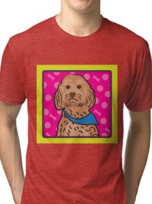 Cockapoo Cartoon Tri-blend T-Shirt