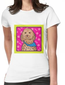 Cockapoo Cartoon Womens Fitted T-Shirt