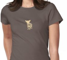 Blonde Chihuahua Womens Fitted T-Shirt