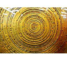 Golden Glass Photographic Print