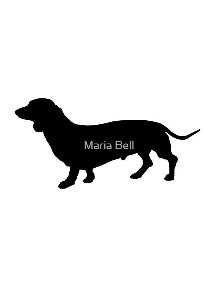 Dachshund Silhouette by Maria Bell