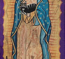 Our Lady of Guadalupe and Cats by Ryan Conners