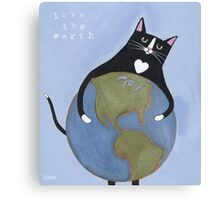 Love the Earth Cat Canvas Print